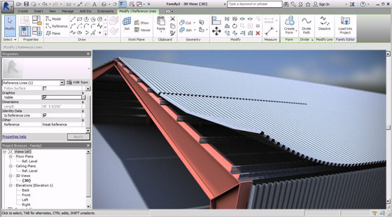 Tension Cable in adaptive modeling environment within Revit