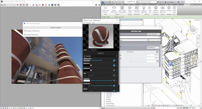 How to use V-ray Material Editor to produce and edit materials in Revit
